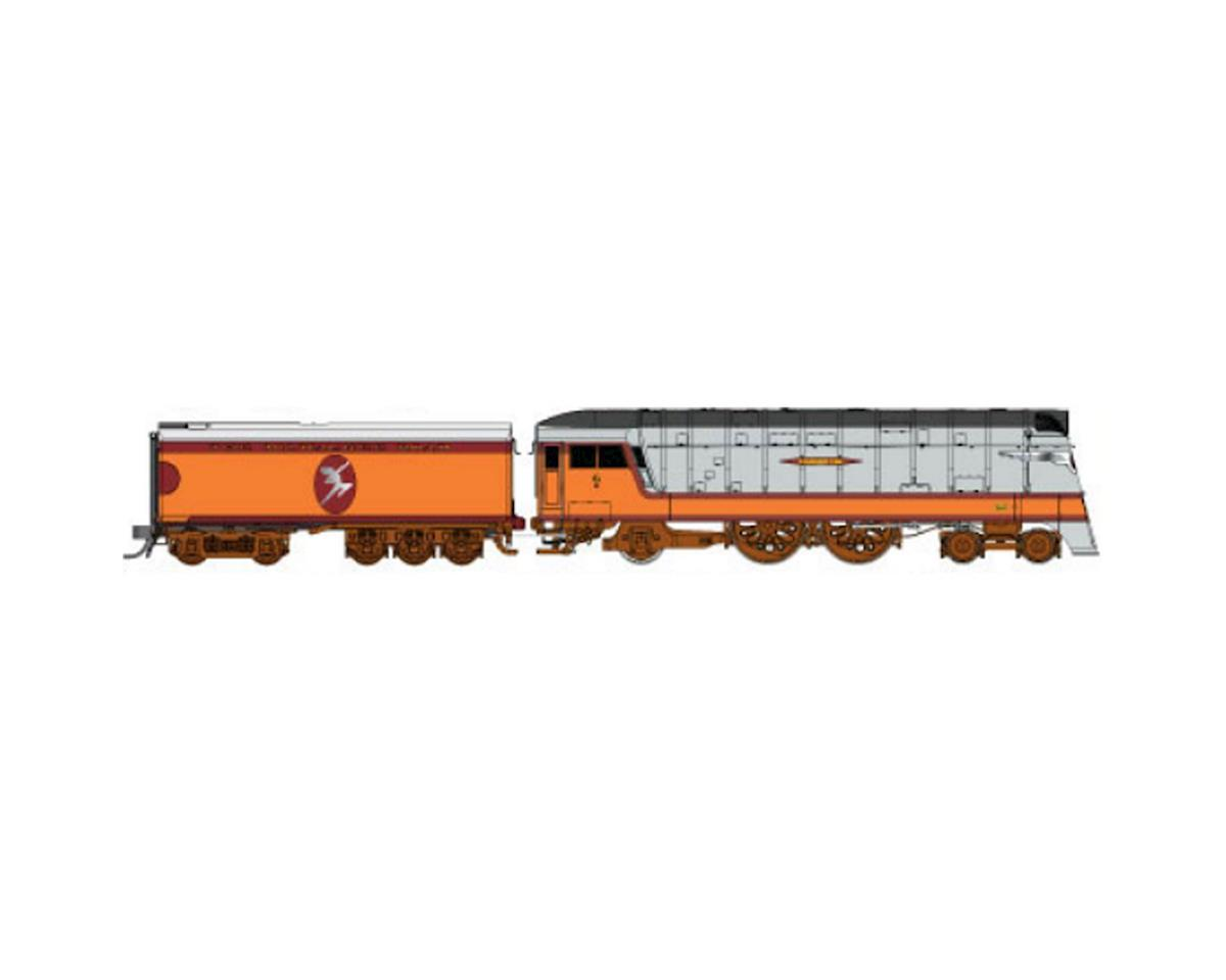 Fox Valley Models N Hiawatha 4-4-2 w/DCC & Sound,MILW/Half Moon#4