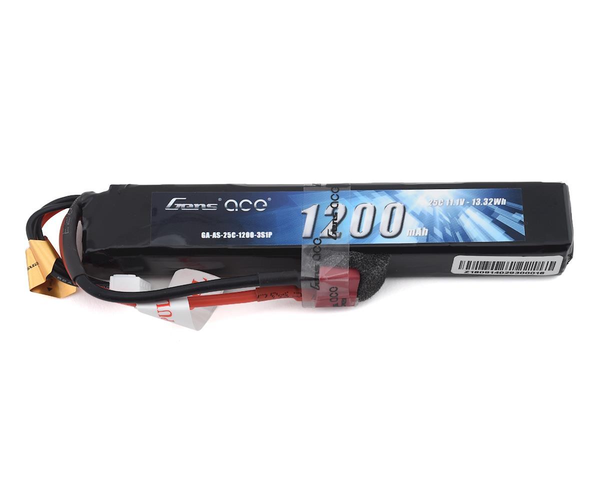 Gens Ace 3S 25C Airsoft LiPo Battery w/Deans Plug (11.1V/1200mAh)