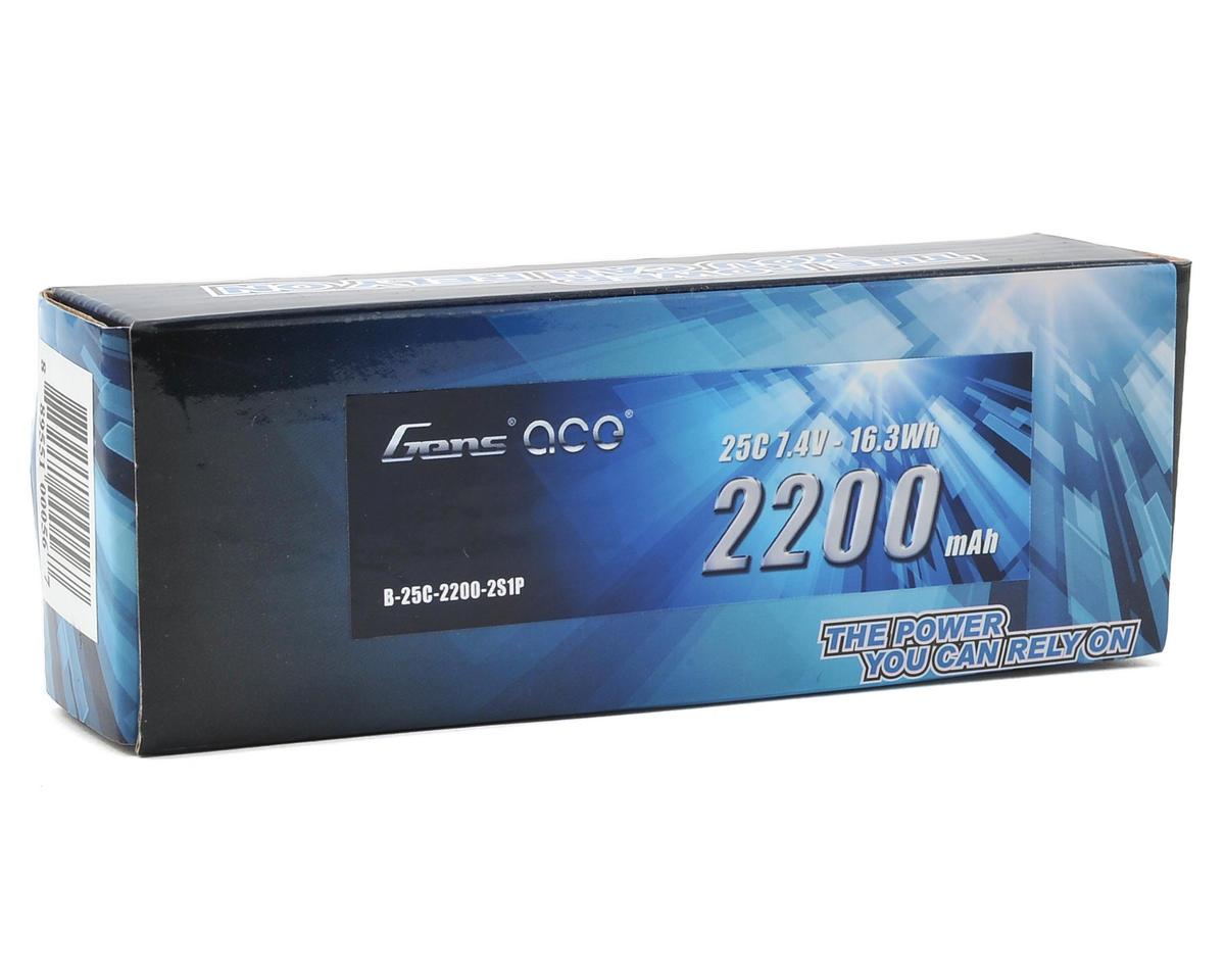 Gens Ace 2s LiPo RX Battery Pack 25C w/Deans (7.4V/2200mAh)