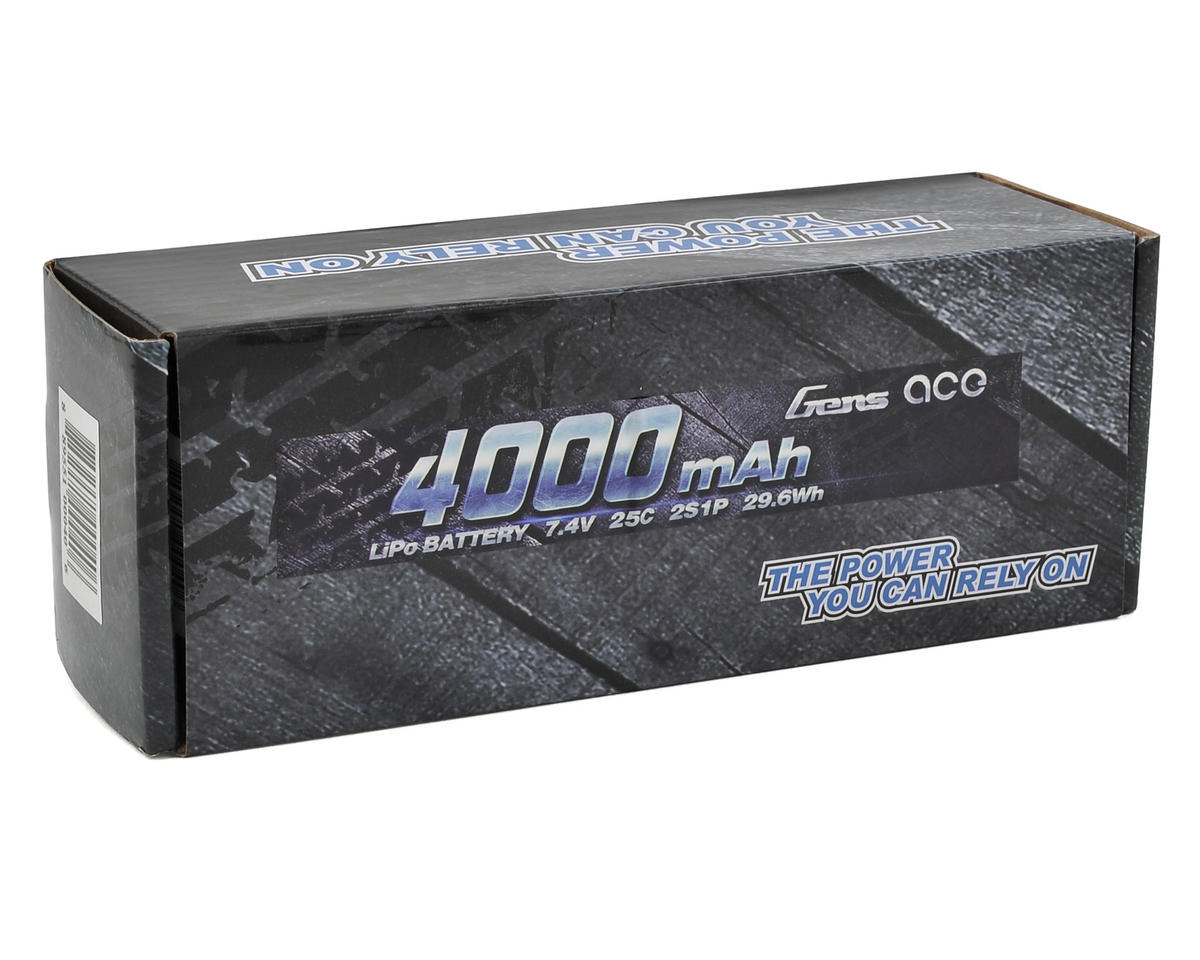 Gens Ace 2s LiPo Battery Pack 25C w/Deans Connector (7.4V/4000mAh)