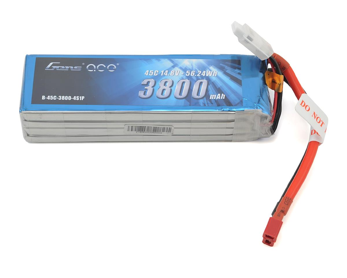 Gens Ace 4s LiPo Battery Pack 45C w/Deans Connector (14.8V/3800mAh)