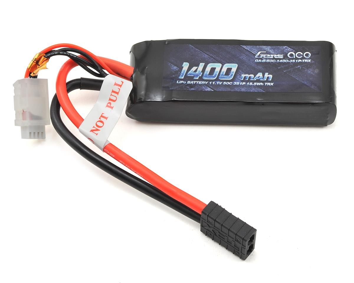 Gens Ace 3S LiPo Battery Pack 50C w/TRX Connector (11.1V/1400mAh)