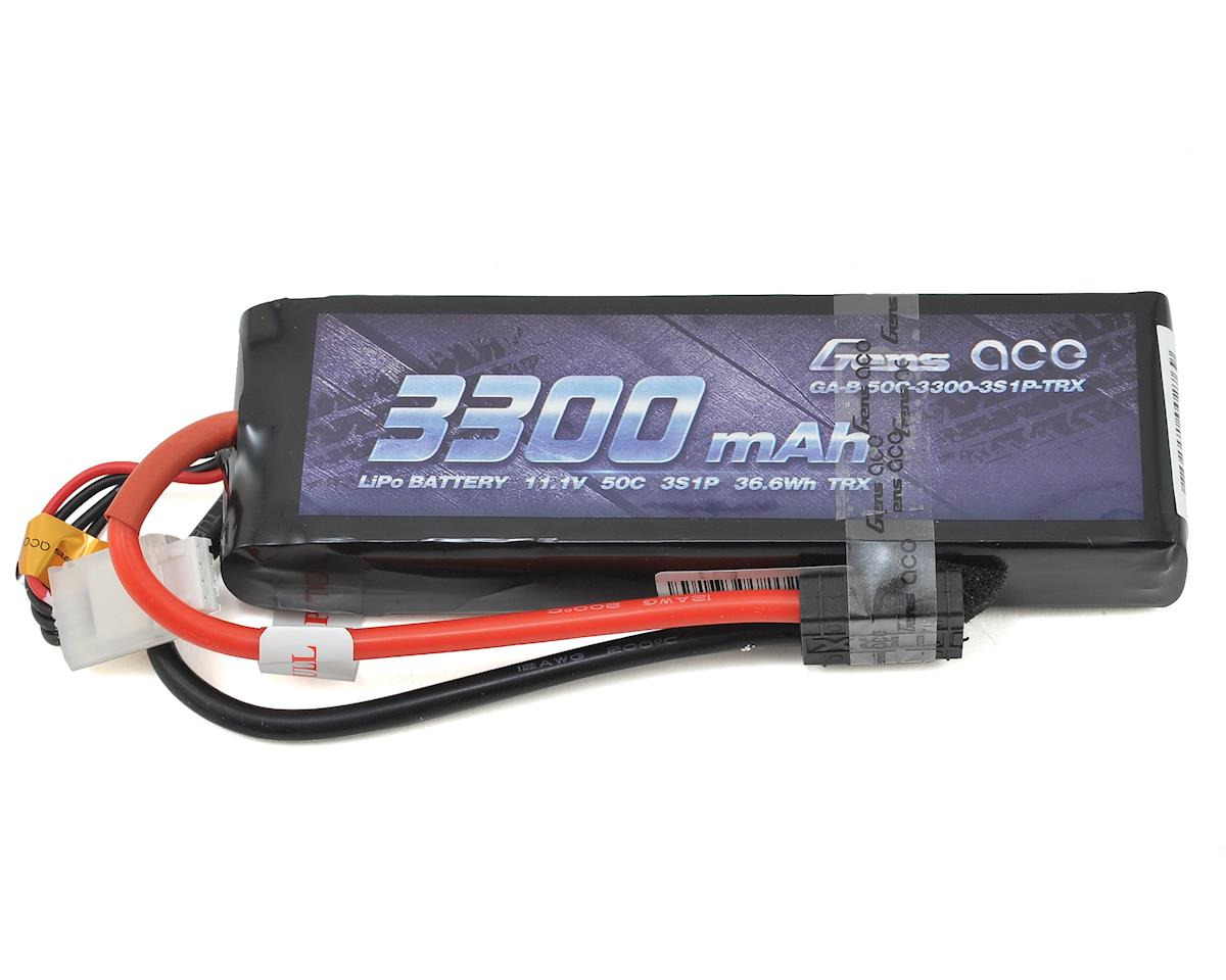 3s LiPo Battery Pack 50C w/TRX Connector (11.1V/3300mAh) by Gens Ace