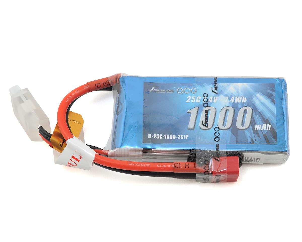 2s LiPo Battery Pack 25C w/Deans Connector (7.4V/1000mAh) by Gens Ace