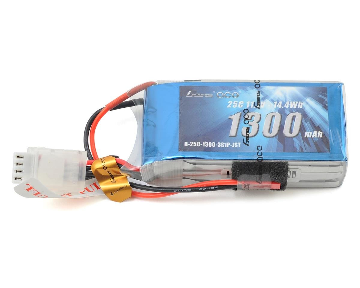 Gens Ace 3s LiPo Battery Pack 25C w/JST Connector (11.1V/1300mAh)