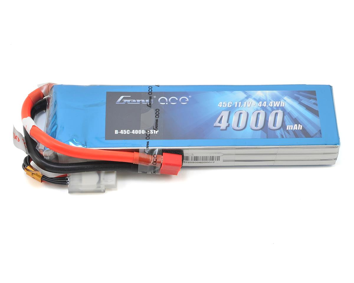 Gens Ace 3s LiPo Battery Pack 45C w/Deans Connector (11.1V/4000mAh)