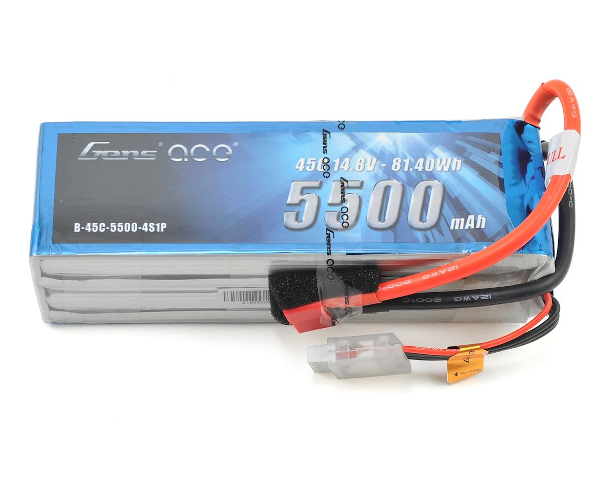 Gens Ace 4s LiPo Battery Pack 45C w/Deans Connector (14.8V/5500mAh)