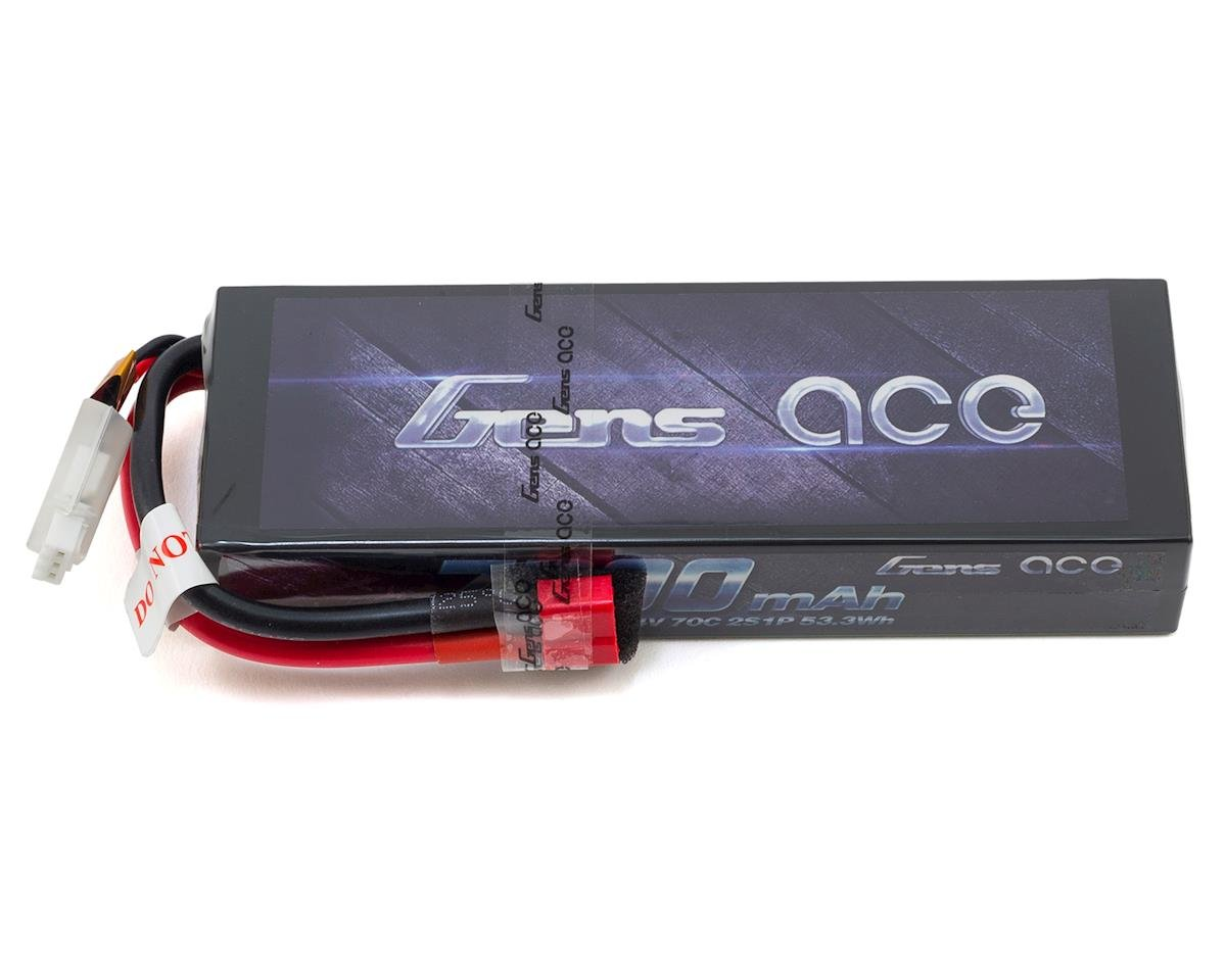 Gens Ace 2s LiPo Battery Pack 70C  w/T-Syle Connector (7.4V/7200mAh) (Traxxas Slash)