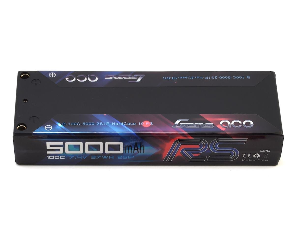 Race Spec 2S LiPo Battery Pack 100C (7.4V/5000mAh) by Gens Ace