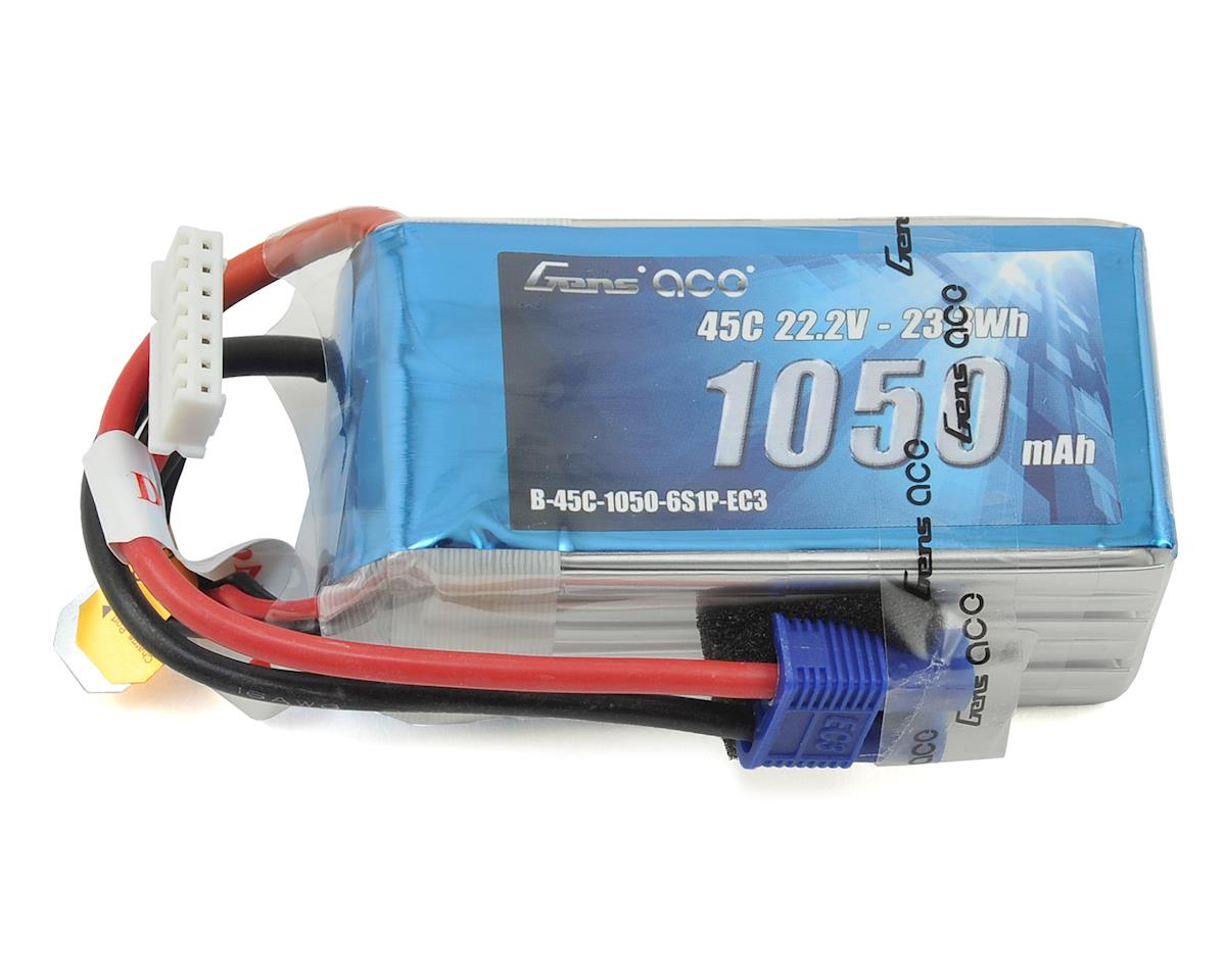 Gens Ace 6s LiPo Battery Pack 45C (22.2V/1050mAh)