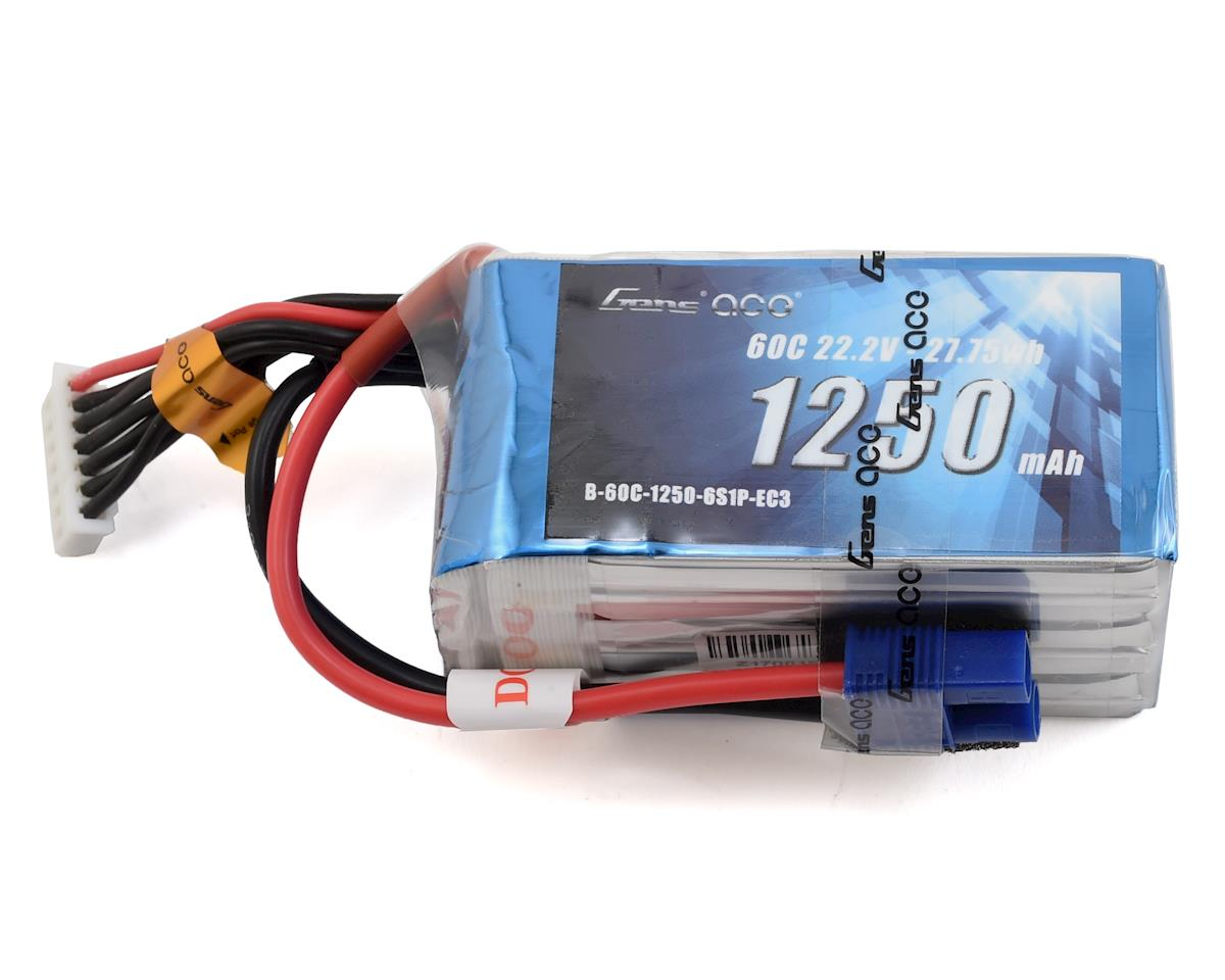 Gens Ace 6s LiPo Battery 60C (22.2V/1250mAh)