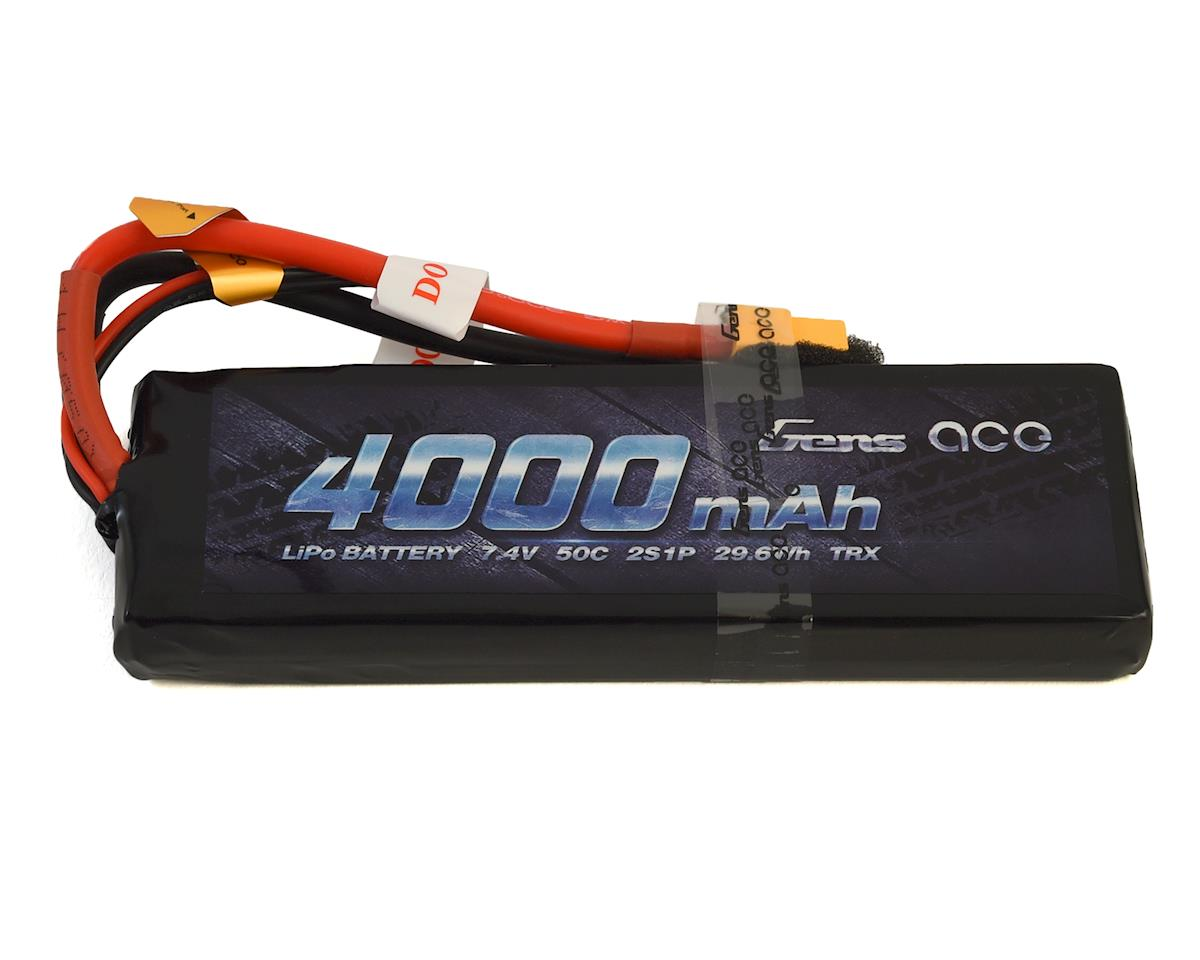 Gens Ace 2S Soft 50C LiPo Battery Pack w/XT60 Connector (7.4V/4000mAh)