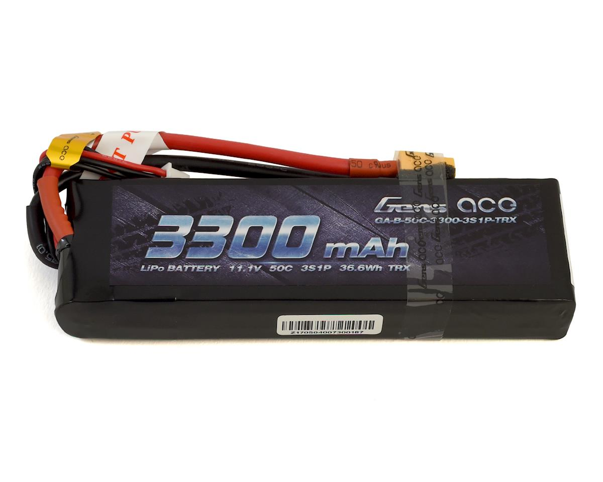 Gens Ace 3S Soft 50C LiPo Battery Pack w/XT60 Connector (11.1V/3300mAh) GEA33003S50X6