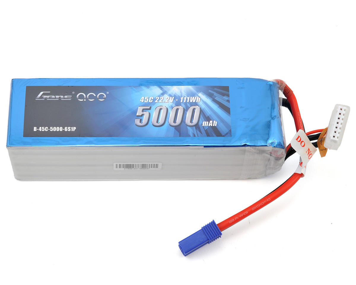 Gens Ace 6s LiPo Battery 45C (22.2V/5000mAh) GEA50006S45E5