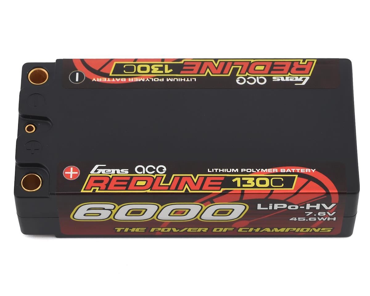 Gens Ace Redline 2S 130C LiHV Battery Pack w/5mm Bullets (7.6V/6000mAh) GEA60002S13D5