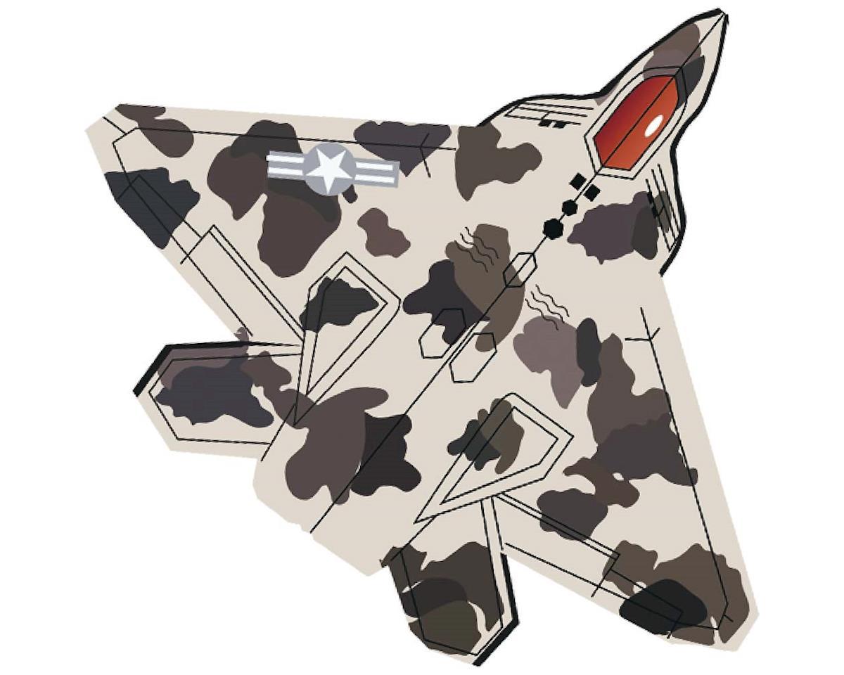 "Gayla Industries 1339 40"" Nylon Stealth Fighter Jet Kite w/Twine/Winder"