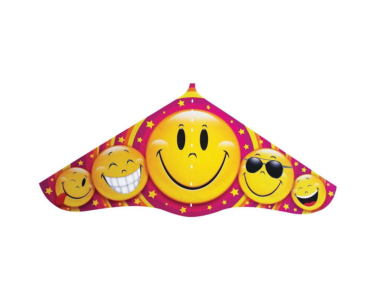 "526 42"" Emoji Plastic Delta Kite w/Twine/Winder"