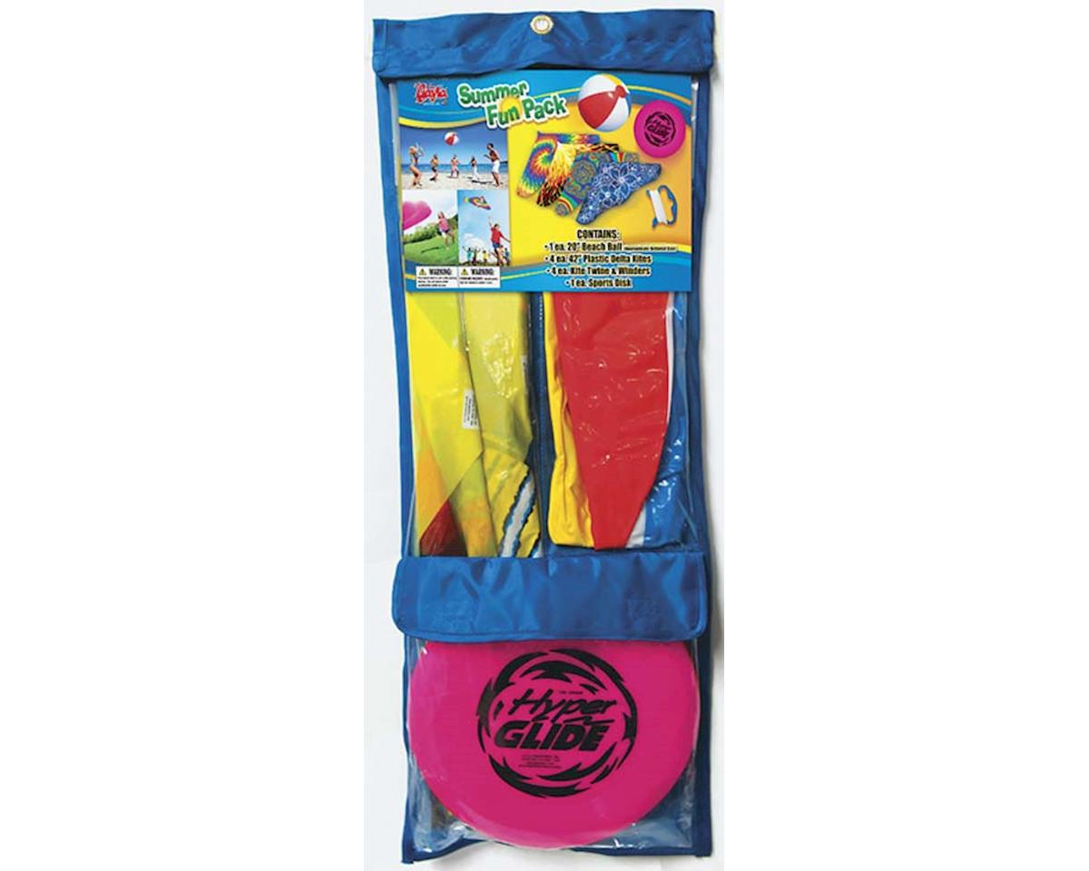 "Gayla Industries 7500 Summer Fun Pck #1 42"" Kites/Bch Ball/Flyng Disc"