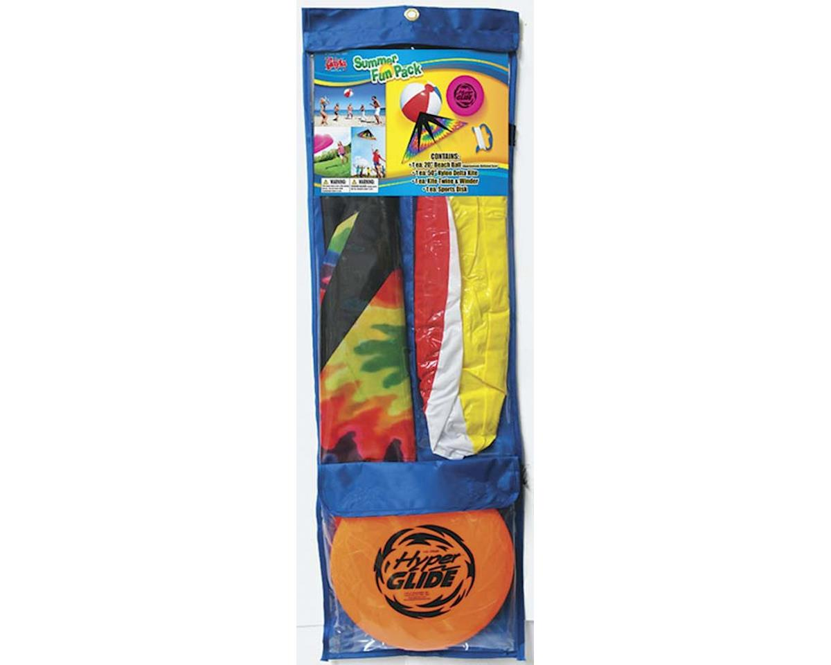 "7501 Summer Fun Pack #2 50""Kite/Beach Ball/Flying Disc by Gayla Industries"