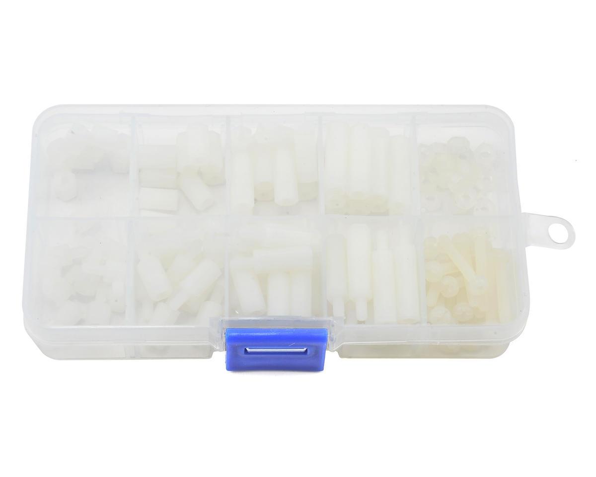 RaceTek M3 Assorted Nylon Hardware Kit (White) (120) (Male & Female)