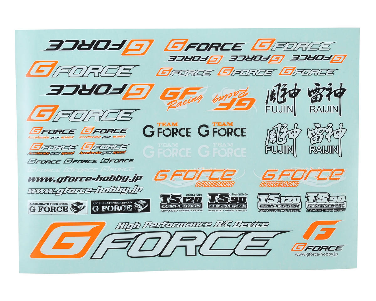 GForce Decal Sheet