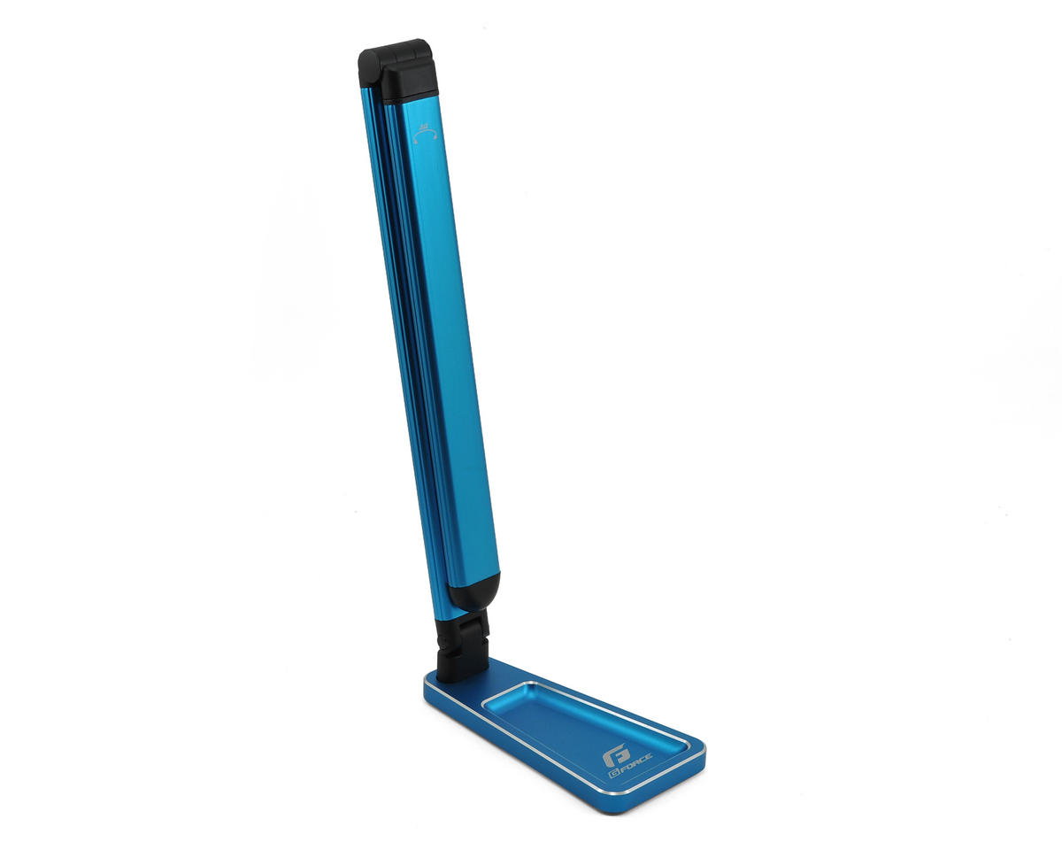 GForce AXIS Aluminum LED Folding Pit Light Stand (Blue)