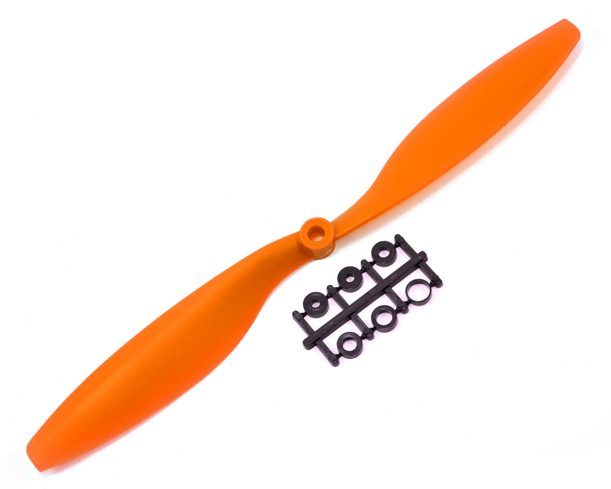 GemFan 10x4.5R Reverse Rotation Propeller (Orange)