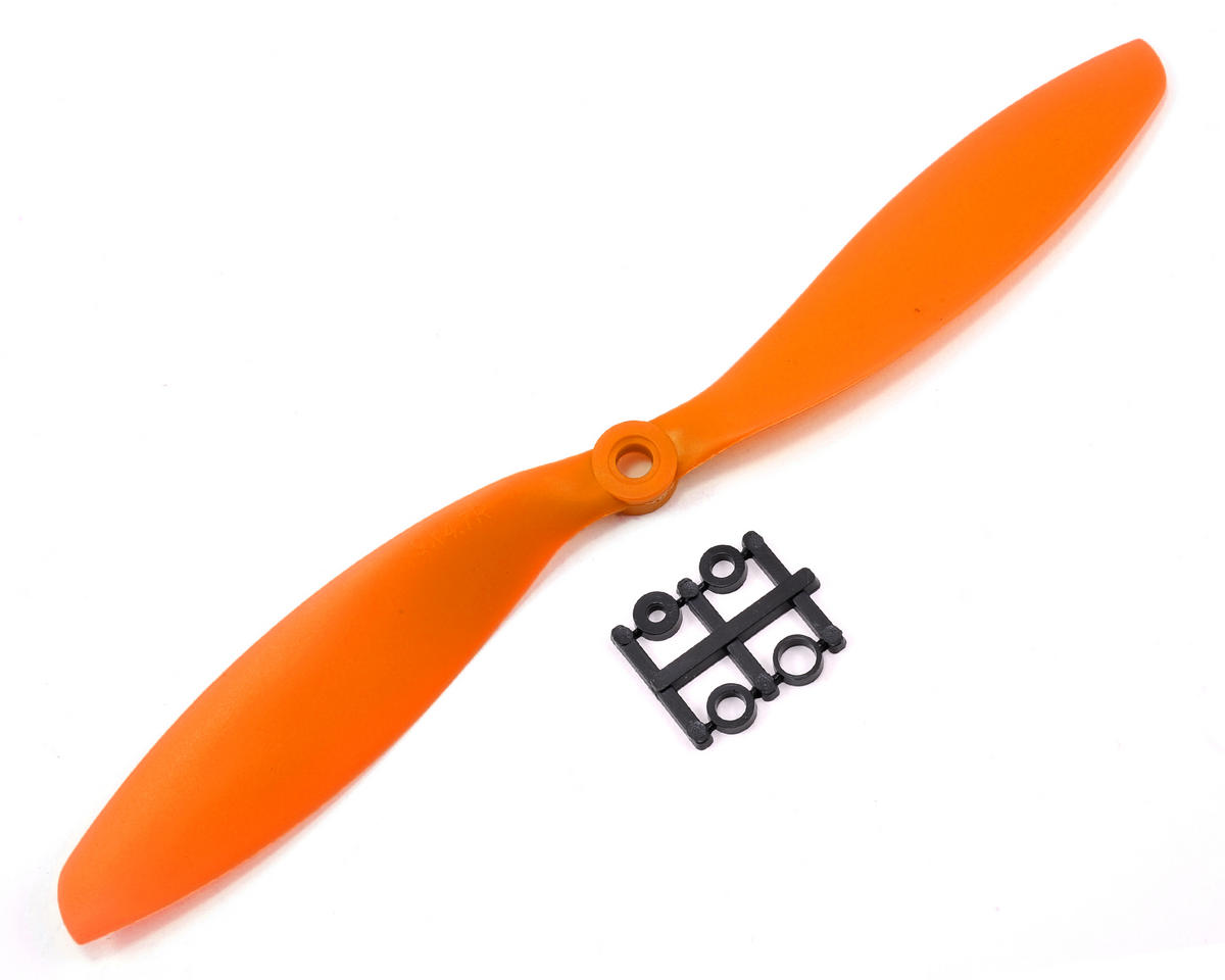 GemFan 9x4.7R Reverse Rotation Propeller (Orange)