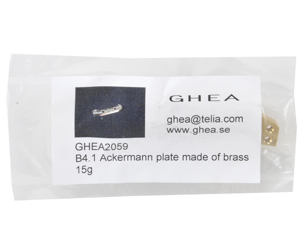 GHEA Racing Products Team Associated Brass Ackerman Plate
