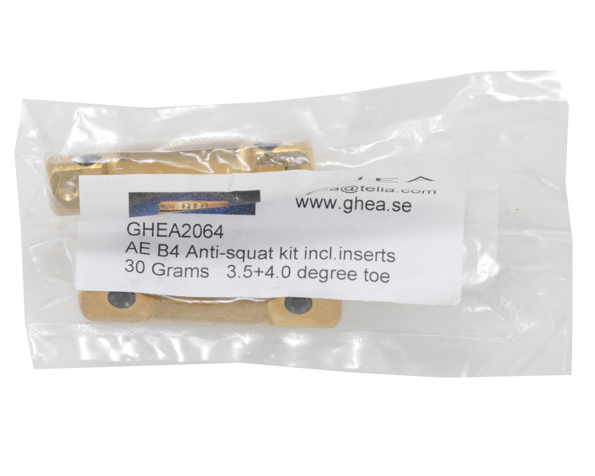 GHEA Racing Products Team Associated Anti-Squat Kit (3.5° & 4° Toe) (2)