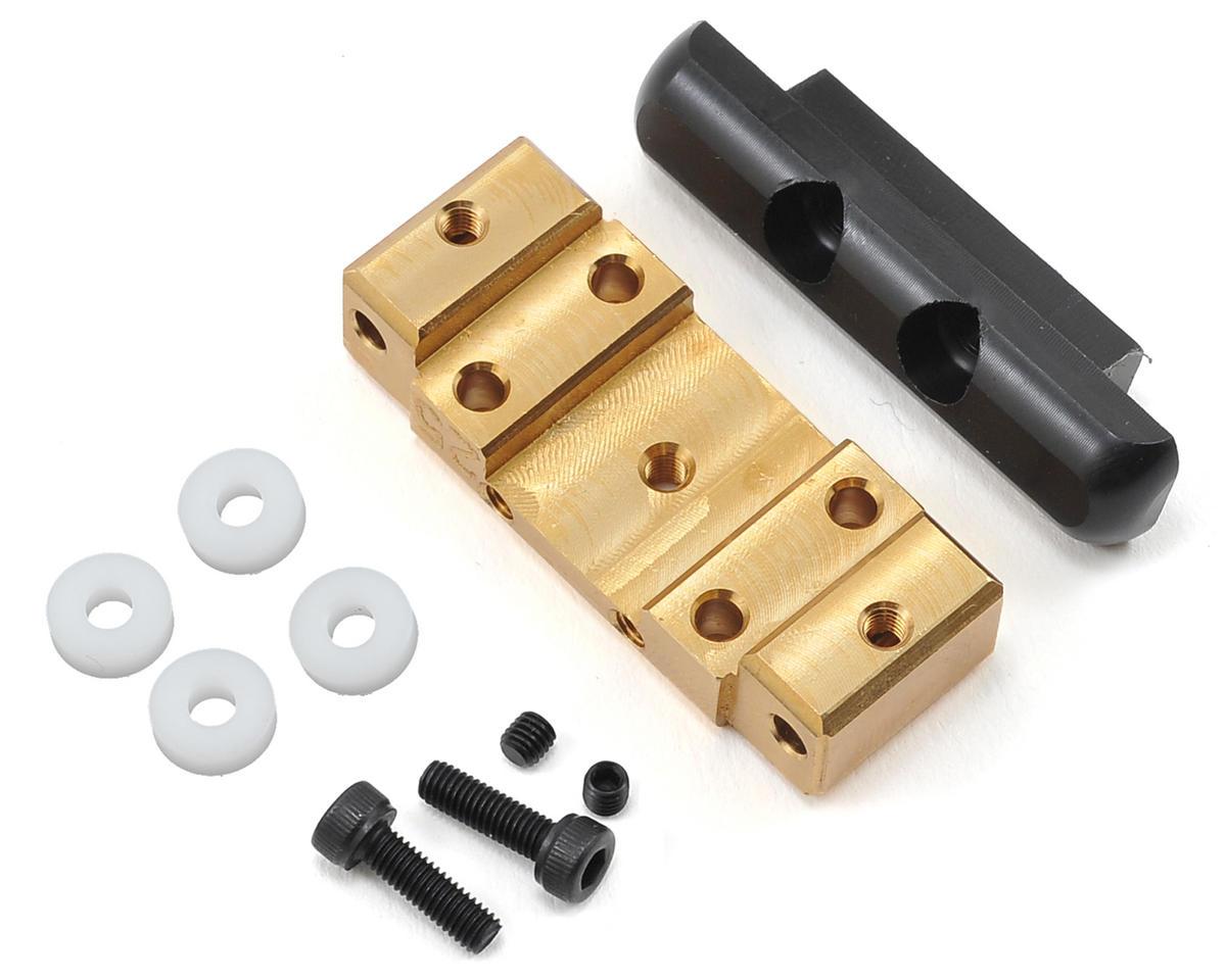GHEA Racing Products B5/B5M Front Brass Bulkhead w/Delrin Brace (43g) (25/30°)