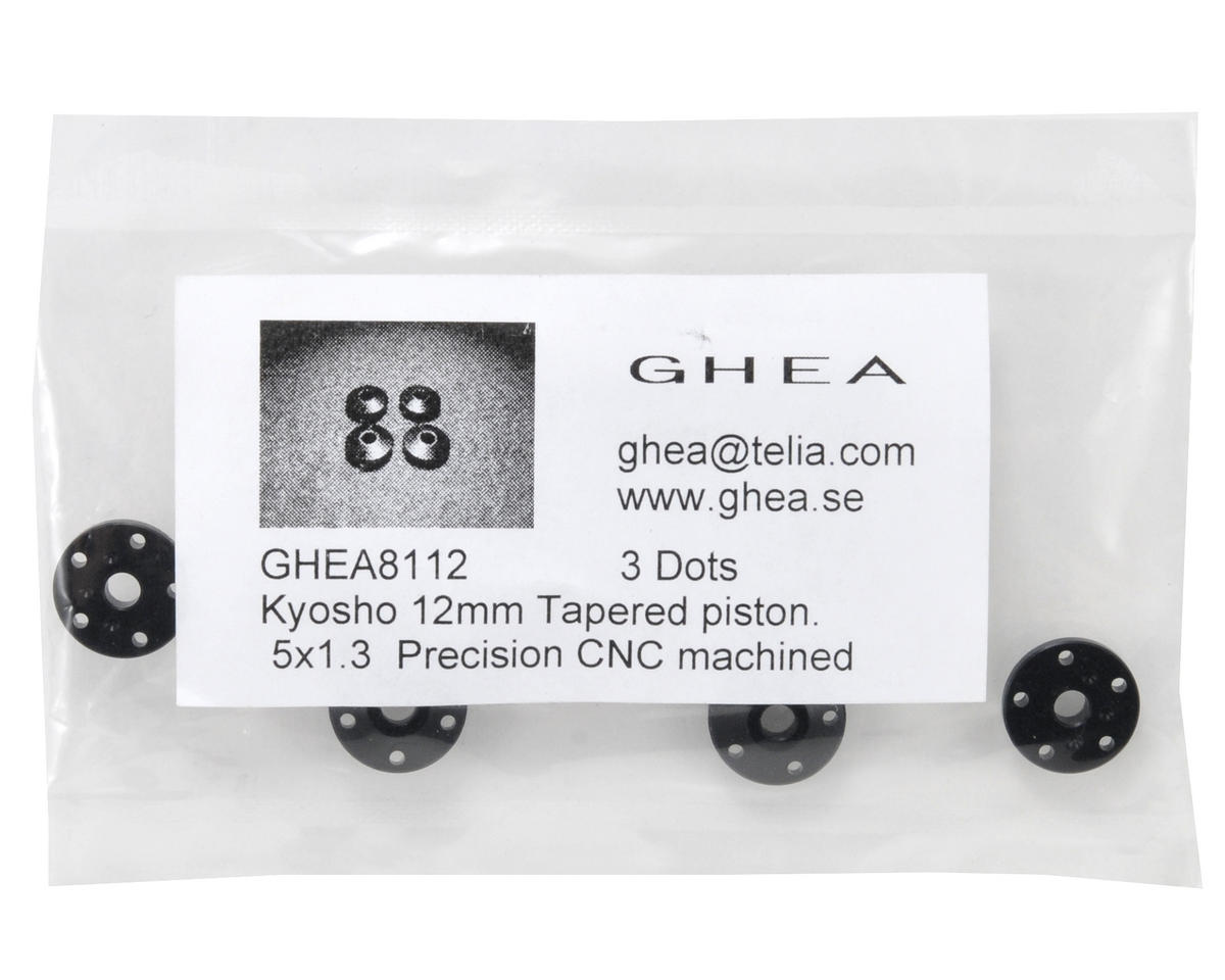 GHEA Racing Products Kyosho RB5 12mm Delrin Tapered Shock Pistons (4) (5x1.3 Hole)