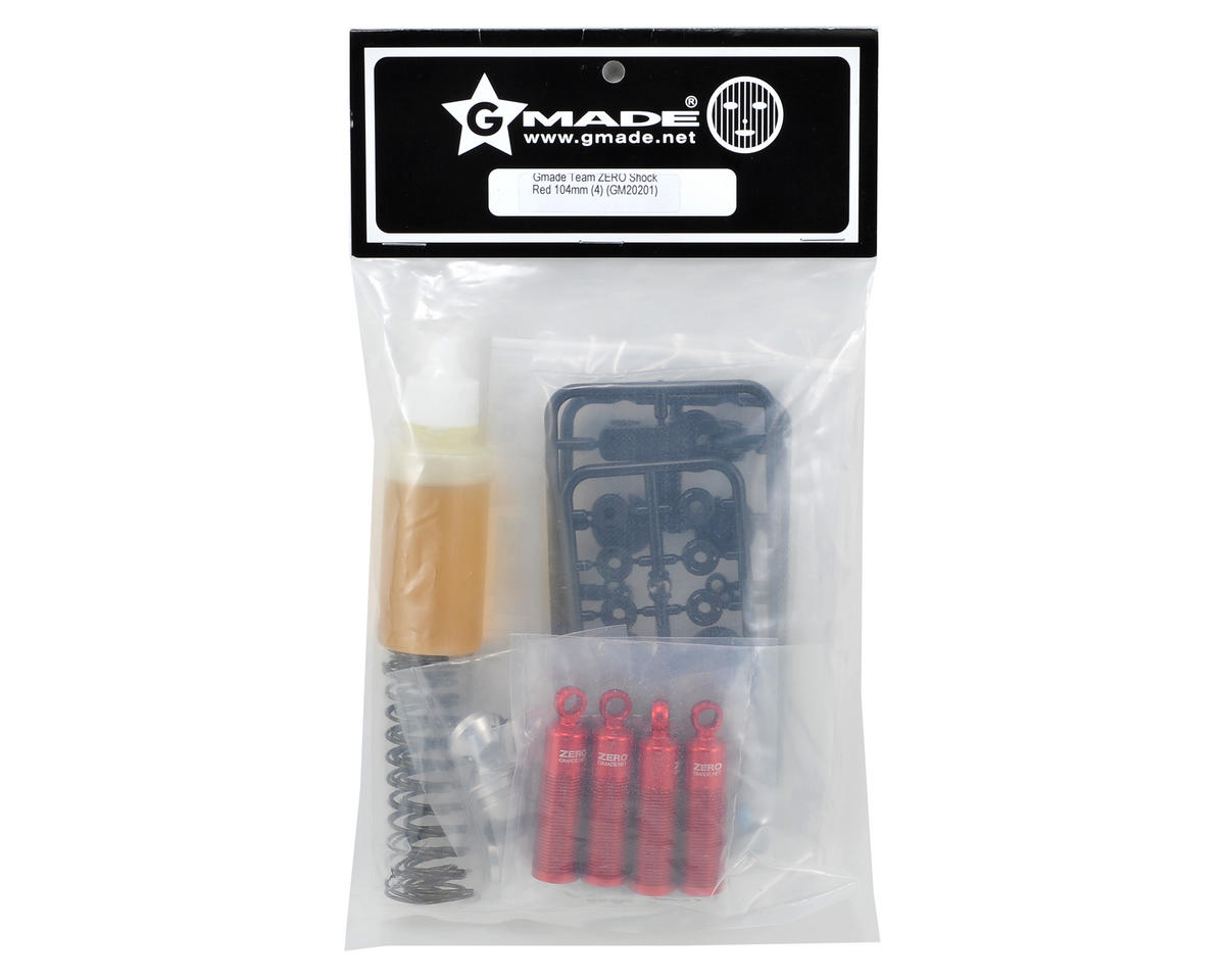 Gmade 104mm Zero Shock Set (Red) (4) (Spider/Stealth/Dragoon/G1)