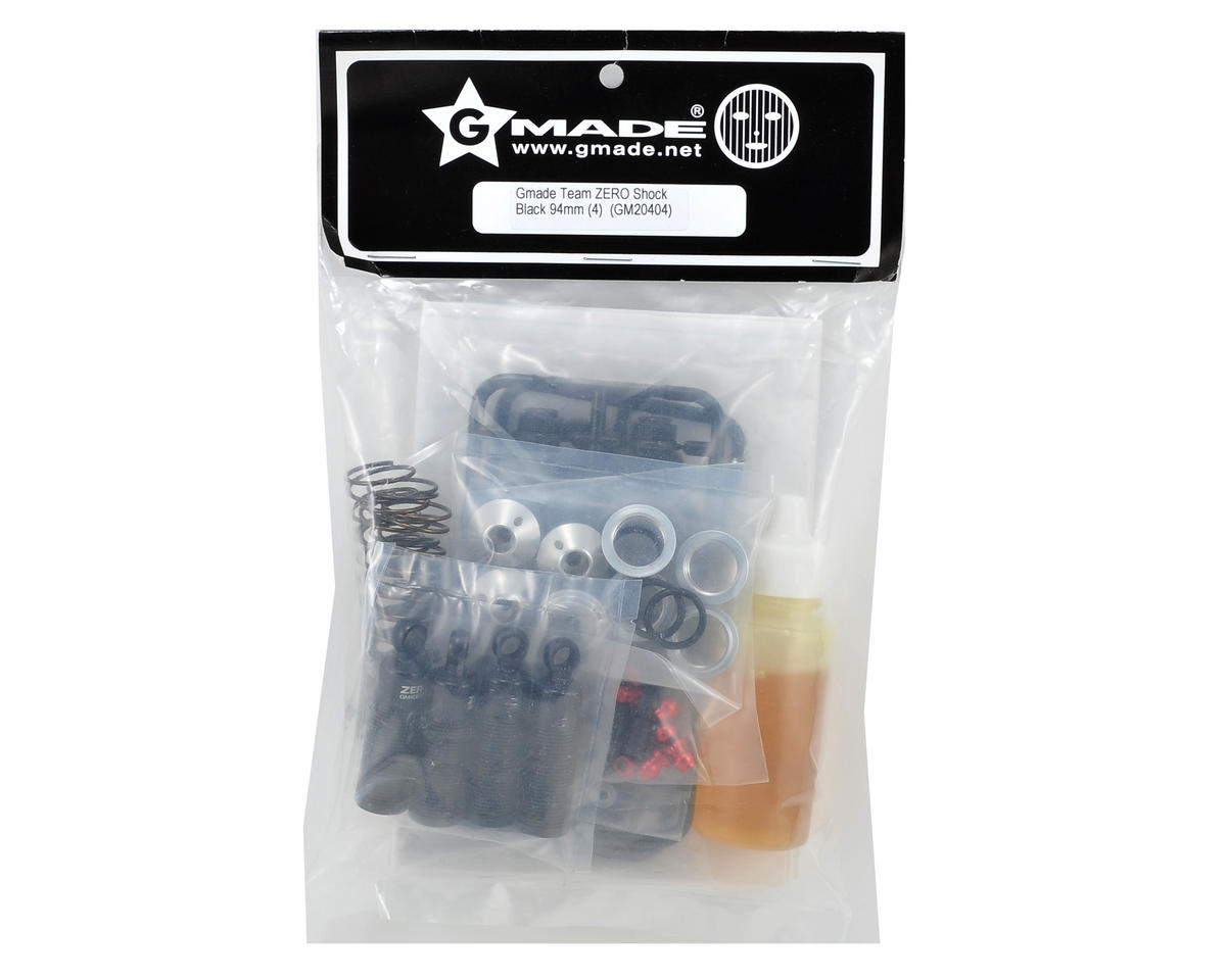 Gmade 94mm zero shock set black 4 gma20404 rock crawlers
