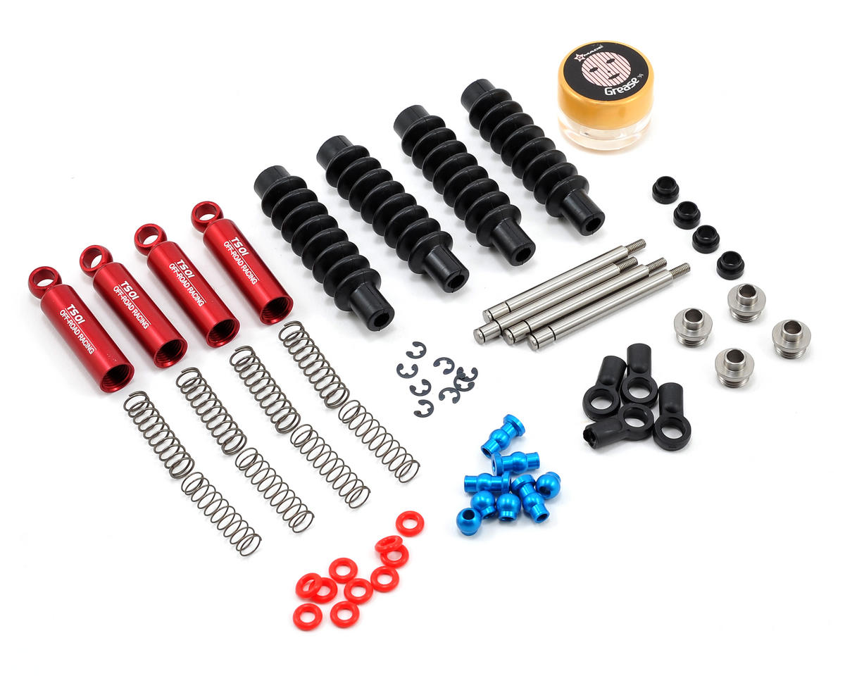 90mm TS01 Scale Shock Set (Red) (4)