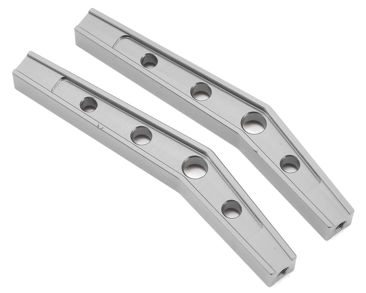 Gmade Komodo 78mm Machined Aluminum Bent Lower Link (2) (Silver)