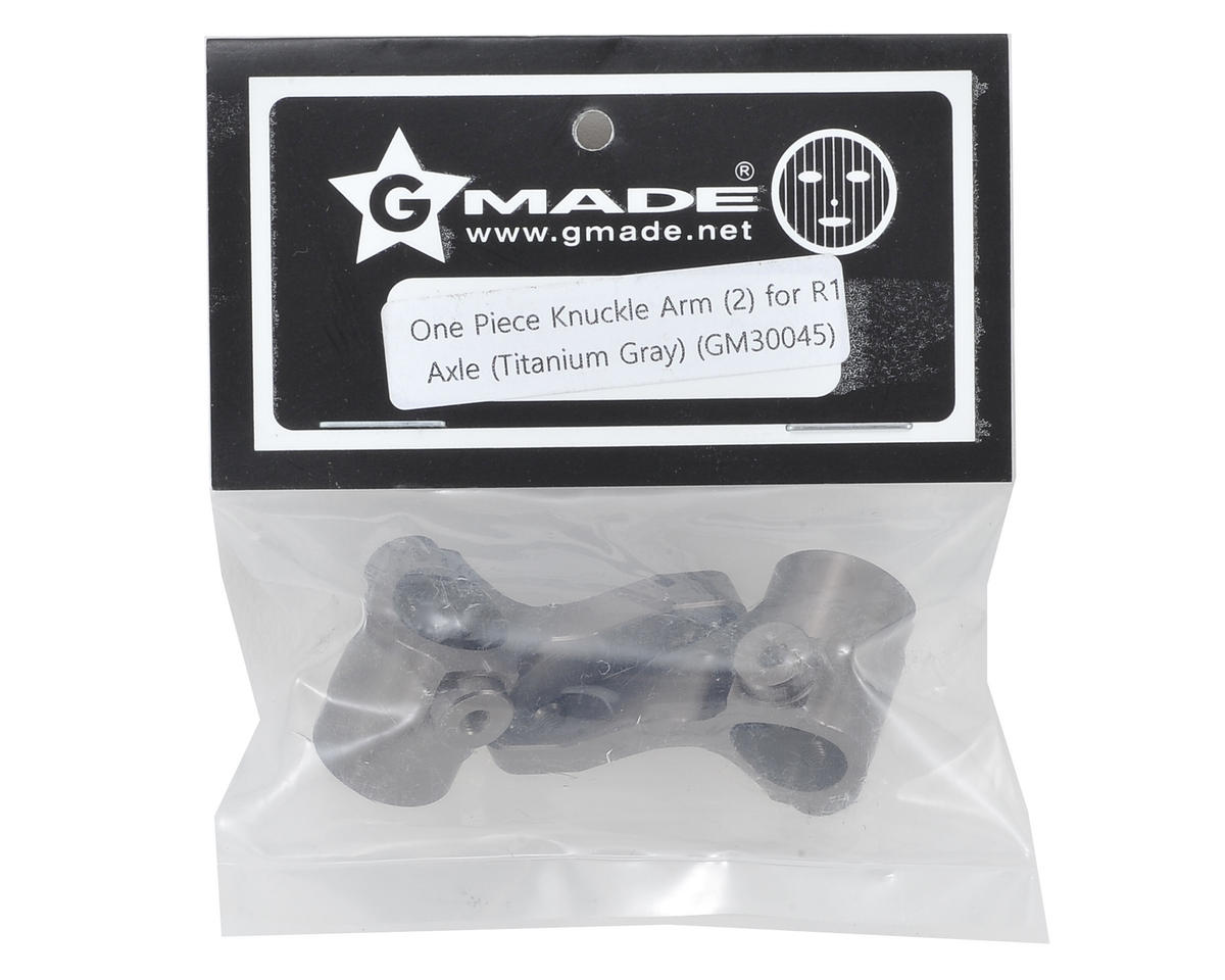 Gmade Aluminum One Piece Knuckle Arm (Gray) (2)