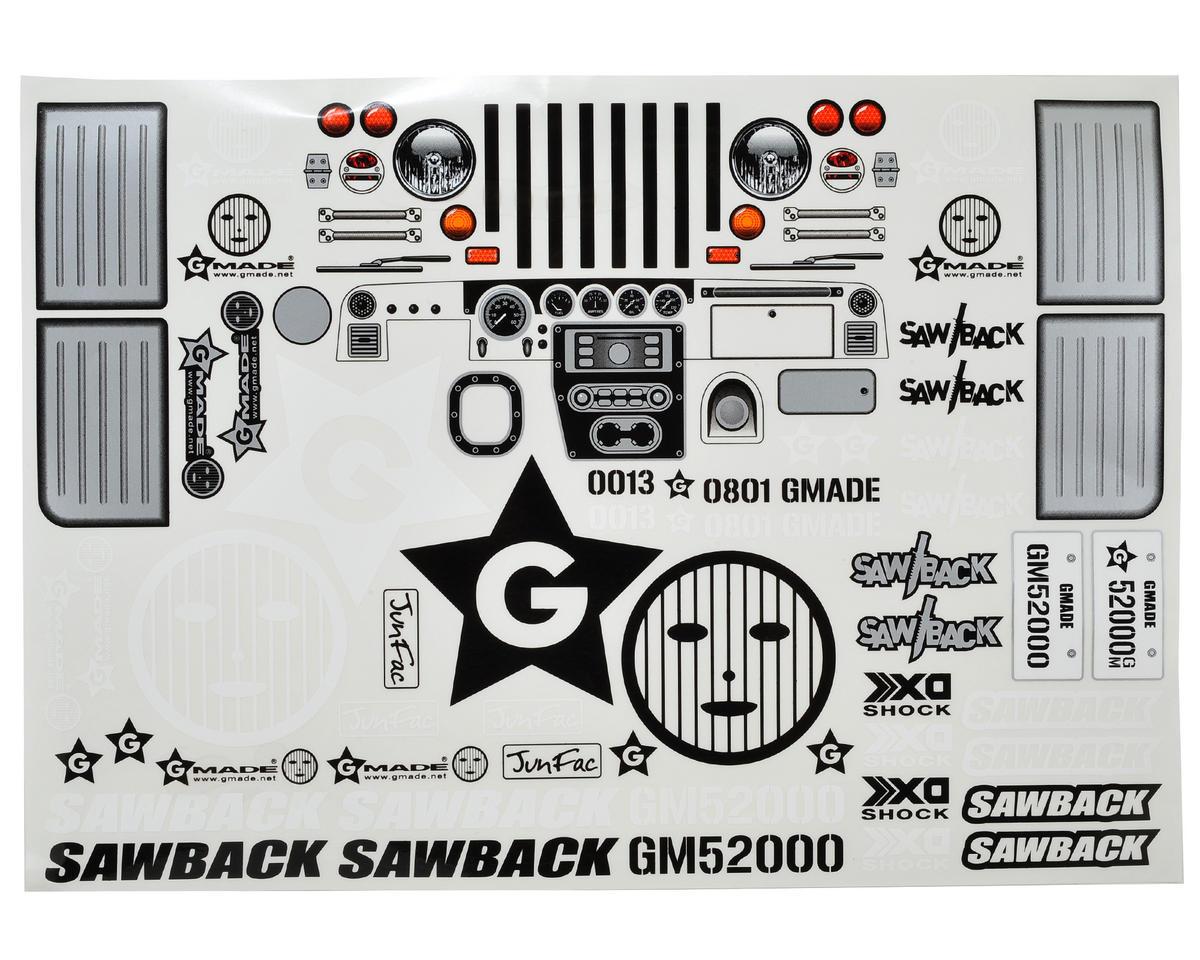 Gmade Sawback Decal Sheet
