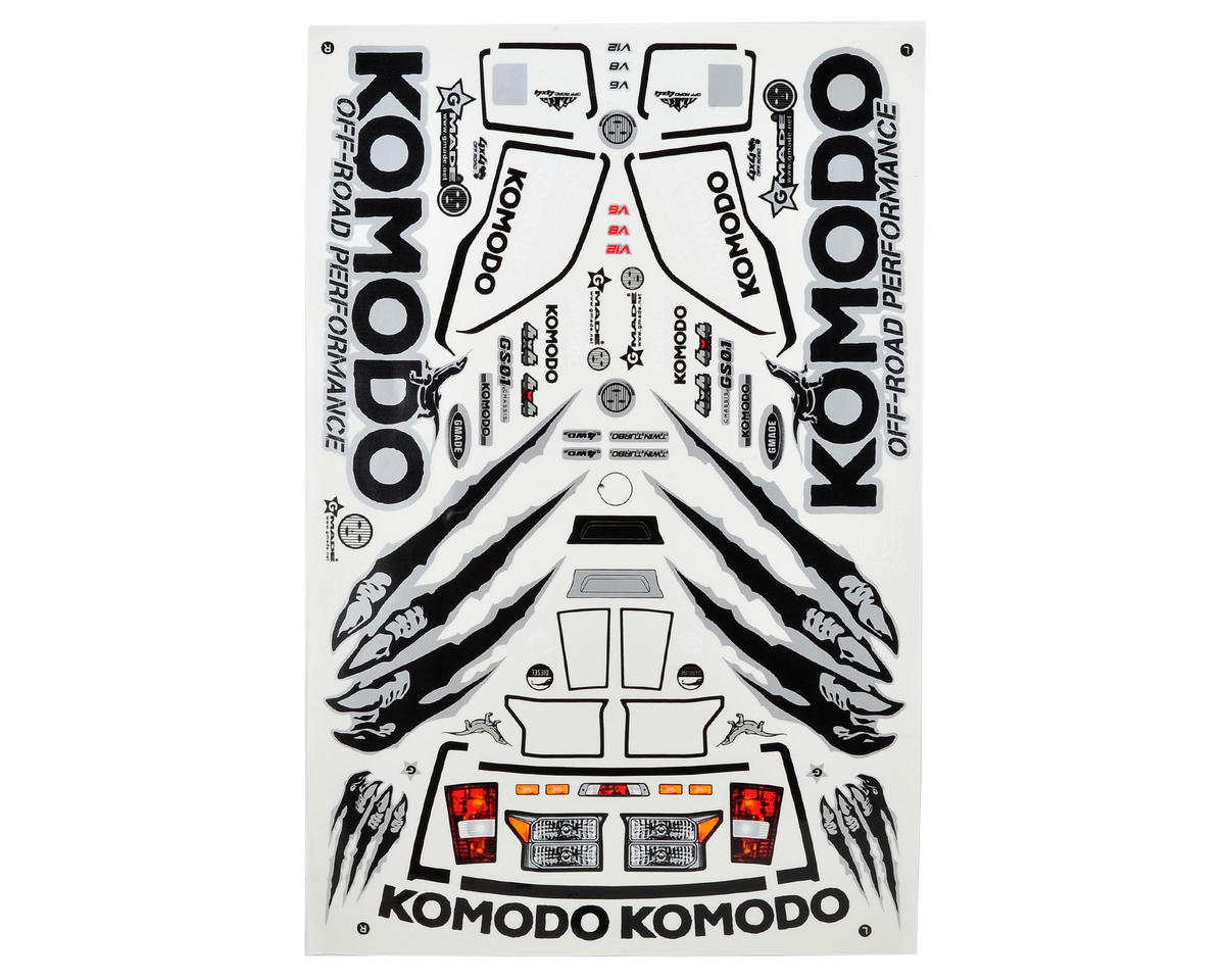 Gmade Komodo Decal Sheet