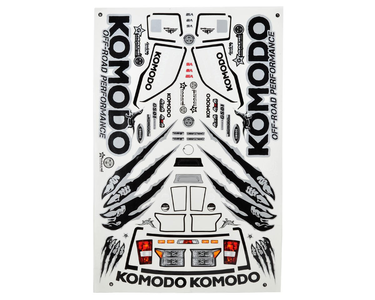 Gmade Komodo Decal Sheet | relatedproducts