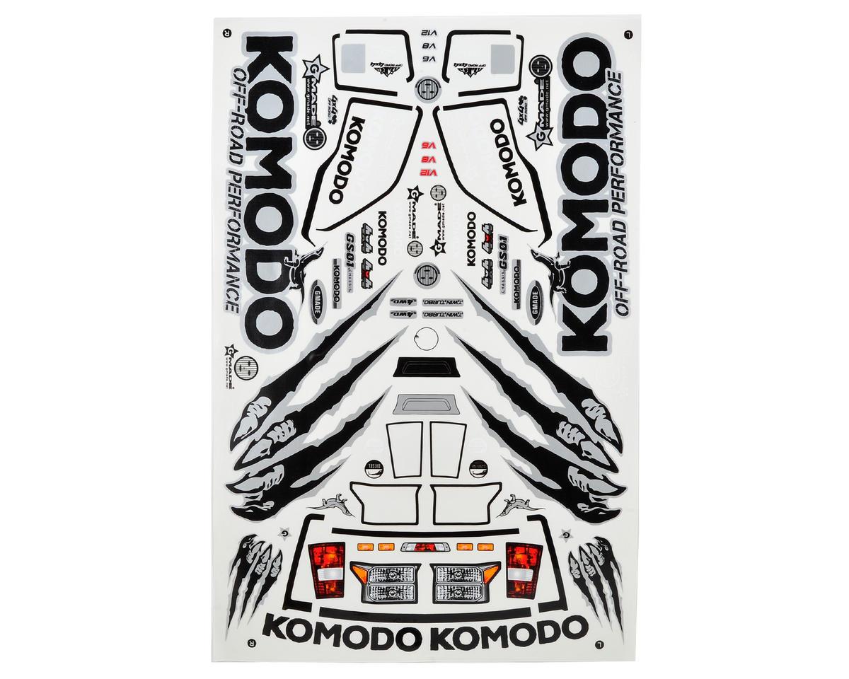 Gmade Komodo Decal Sheet