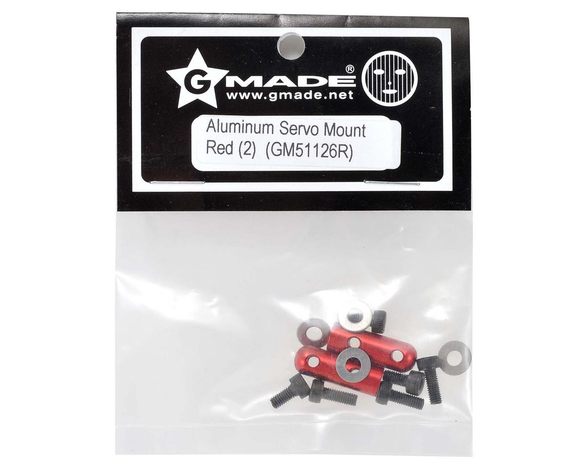 Gmade Aluminum Servo Mount (Red) (2)