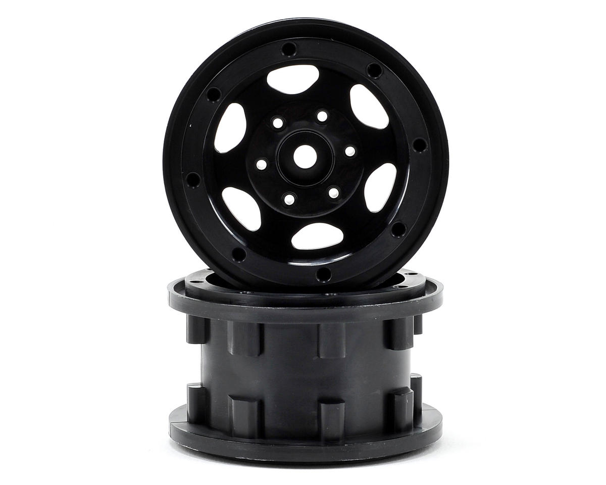 "GT 2.2"" Beadlock Rock Crawler Wheels (2) (Black)"