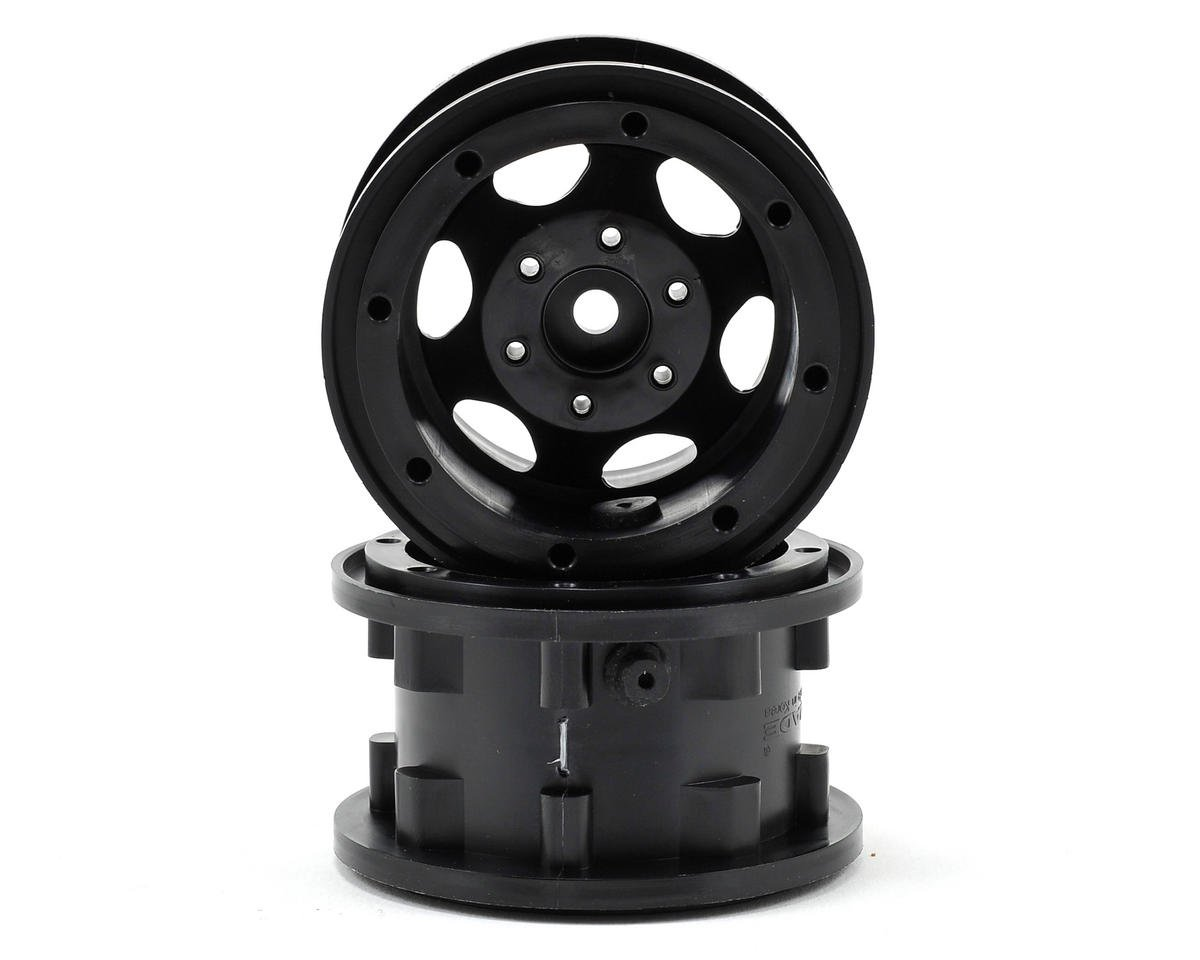 "GT Air System 2.2"" Beadlock Rock Crawler Wheels (2) (Black)"