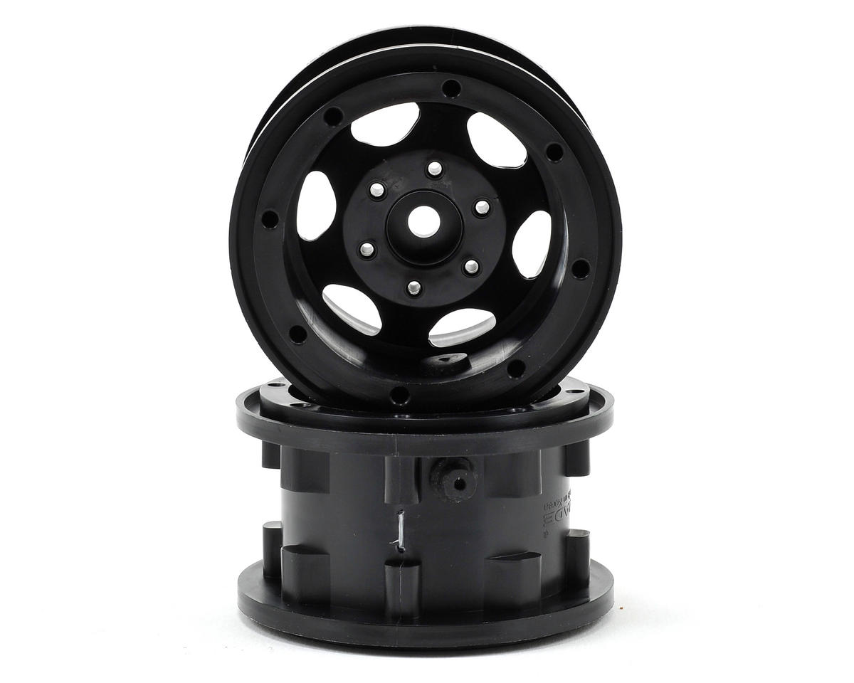 "GT Air System 2.2"" Beadlock Rock Crawler Wheels (2) (Black) by Gmade"
