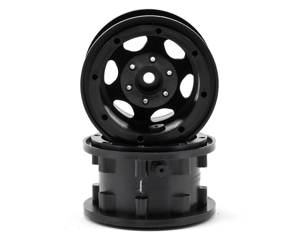 "Gmade GT Air System 2.2"" Beadlock Rock Crawler Wheels (2) (Black)"