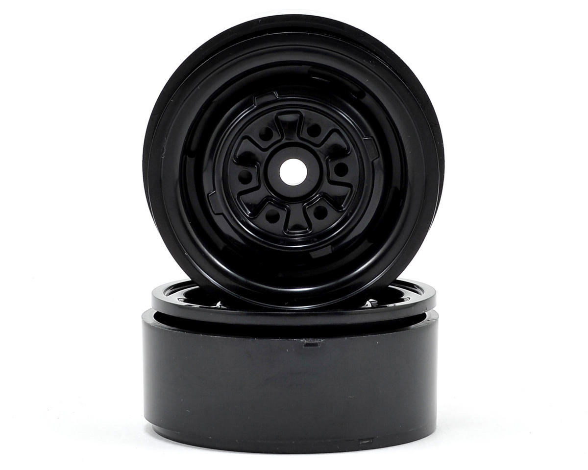 "VR01 1.9"" Beadlock Rock Crawler Wheels (2) (Black)"