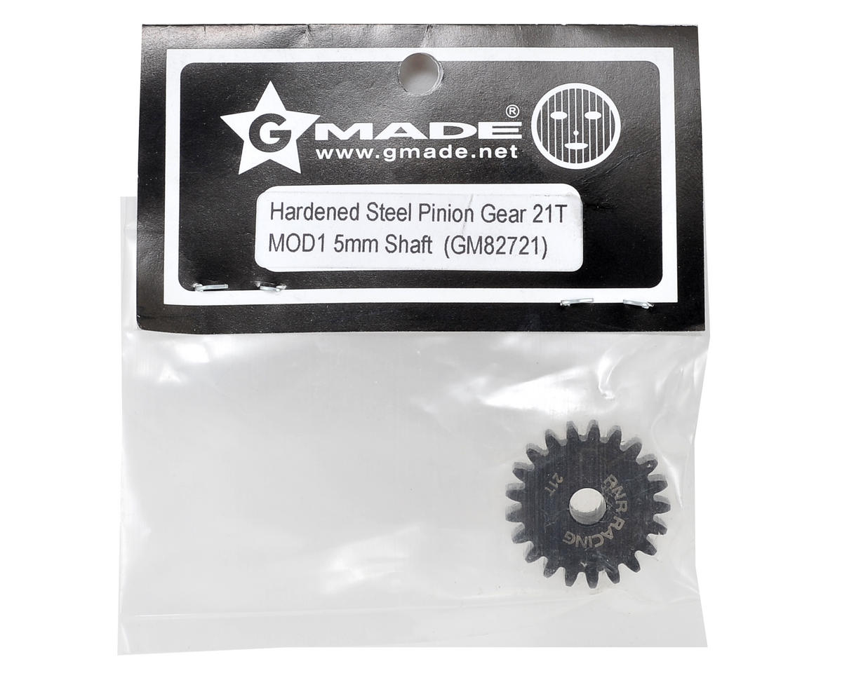 Mod1 Hardened Steel Pinion Gear w/5mm Bore (21T) by Gmade