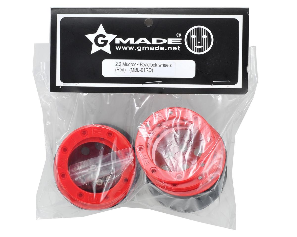 Gmade 2.2 Mudrock Beadlock Wheels (Red) (2)