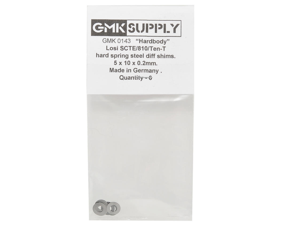 "5x10x0.2mm ""Hardbody"" SCTE Hardened Differential Shim Set (6) by GMK Supply"